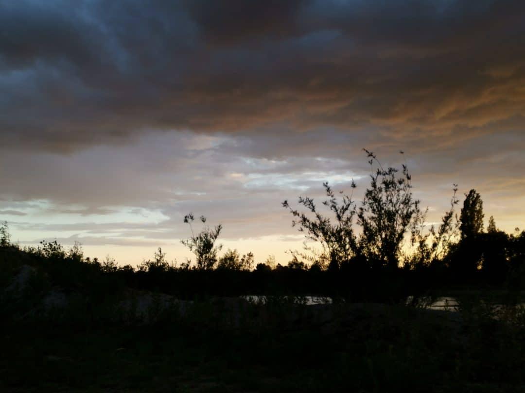 Karpfenanglen bei Wetterumschwung